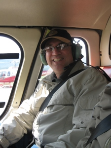 Mike in the pilot's seat.  Well, not quite.