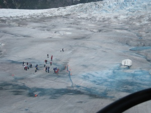 Another glacier landing site.